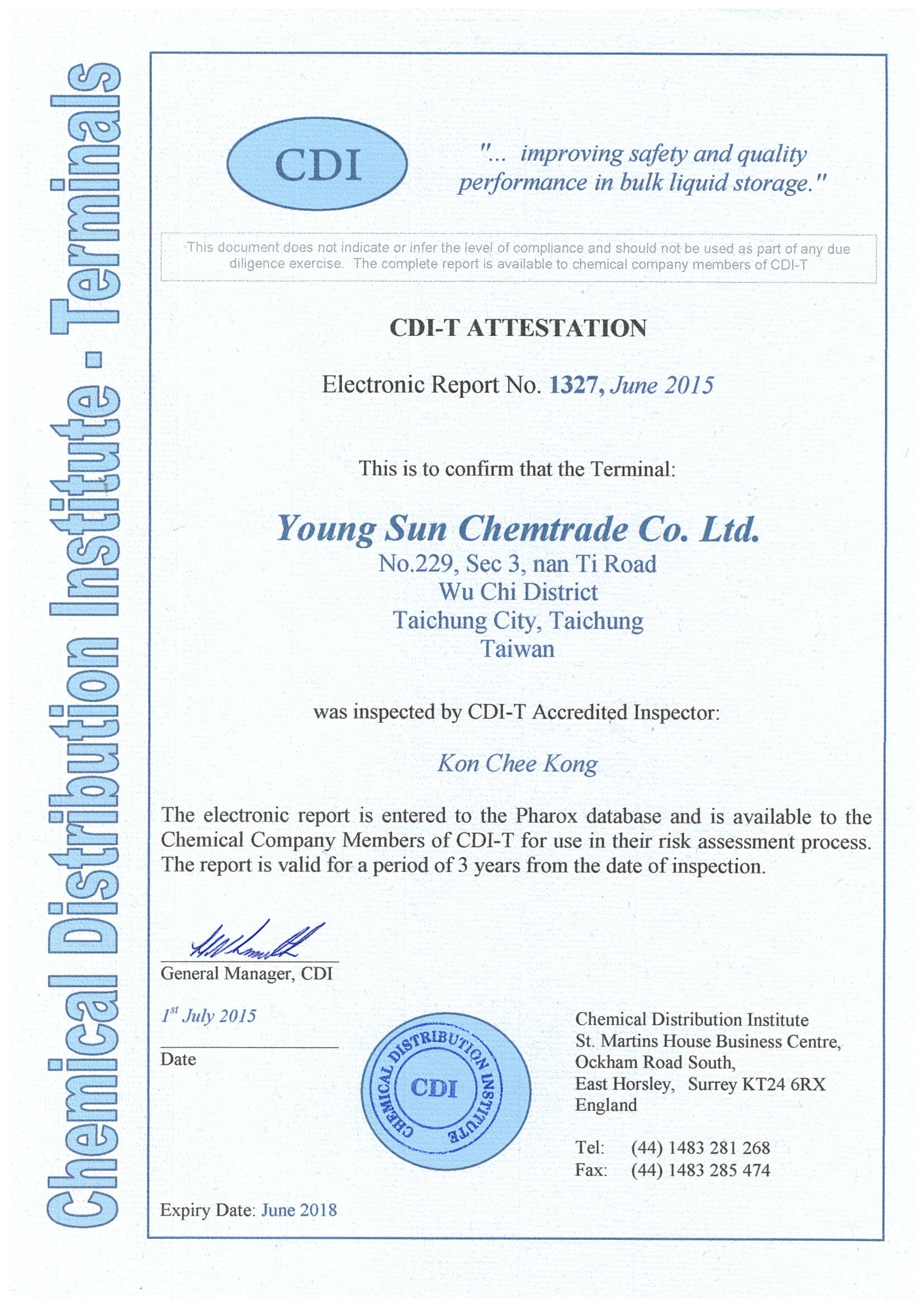 Young Sun Chemtrade Coltd